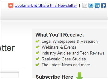 Bookmark and Share this Newsletter Example