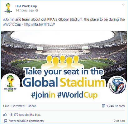 Scoring Social Media Marketing Goals: FIFA Facebook engagement