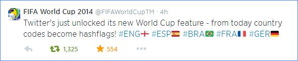 Scoring Social Media Marketing Goals: FIFA Twitter hashflags