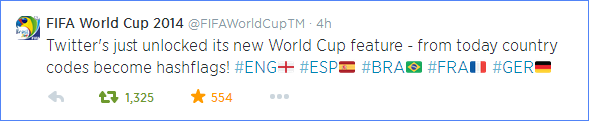 Scoring Social Media Marketing Goals: FIFA Twitter hashflags