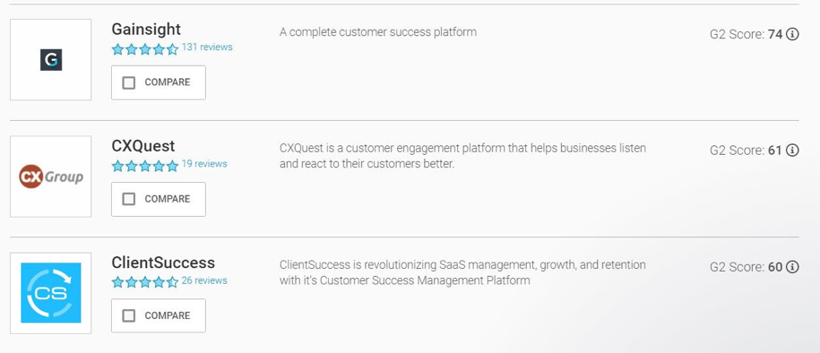 Customer Success Software: G2 Crowd's Top 3 Programs