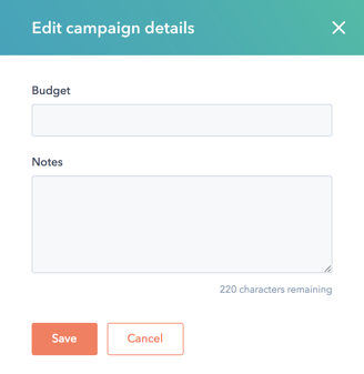 Adding a Budget to Your Campaign in HubSpot