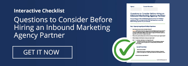 Questions to Consider Before Hiring Inbound Marketing Partner PDF Checklist