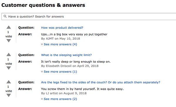 Amazon Customer Question & Answer