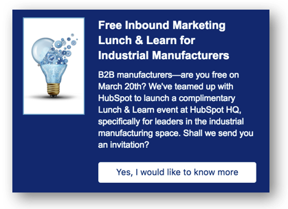 HubSpot Lead Flows: Event Promotion Example