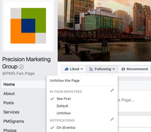 Facebook Newsfeed Preferences