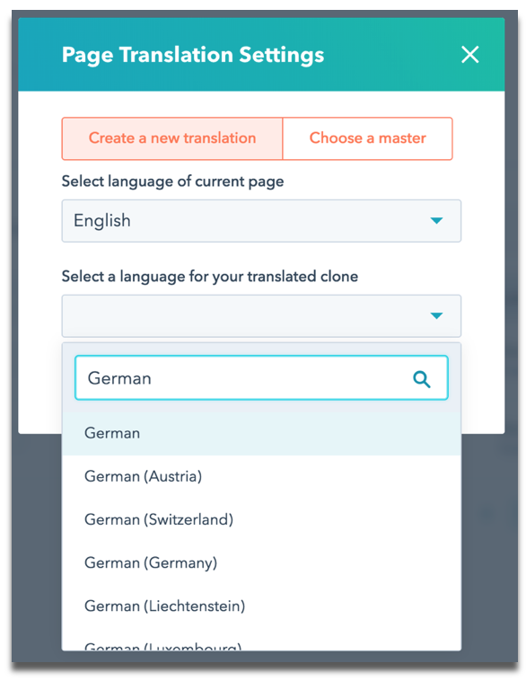 Page Translation Setting