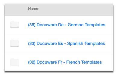 Template Folders