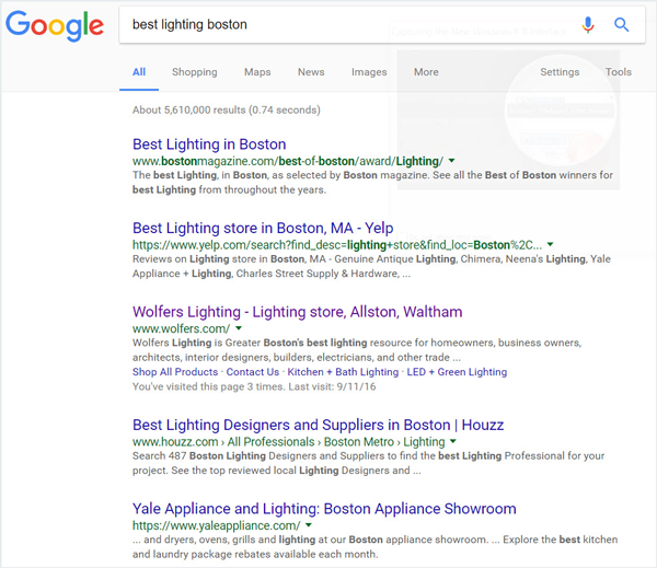 Meta-Descriptions in Search Engine Results