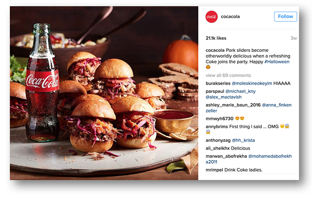 Instagram for B2C Marketing: Coca-Cola
