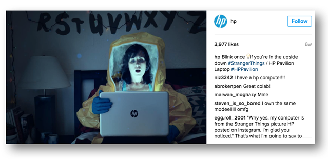 Instagram for B2B Marketing: HP