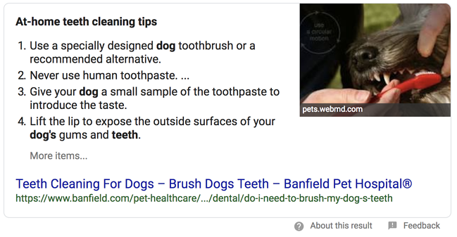 Featured Snippet Example: Numbered List Snippet
