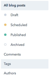 HubSpot Blog Tags