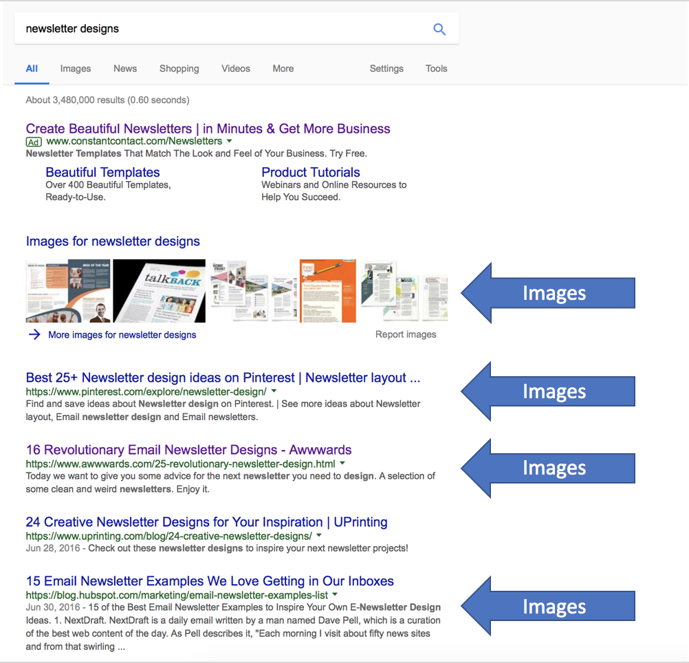 Newsletter designs search results in google example