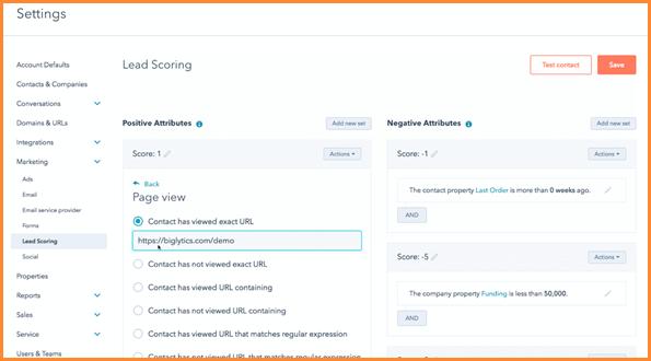 HubSpot Lead Scoring Tool