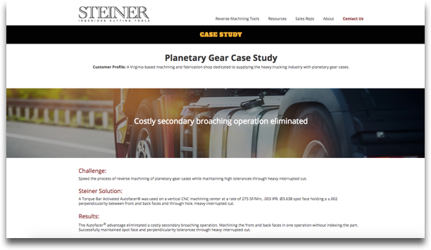 Steiner Technologies Case Study Redesign – After