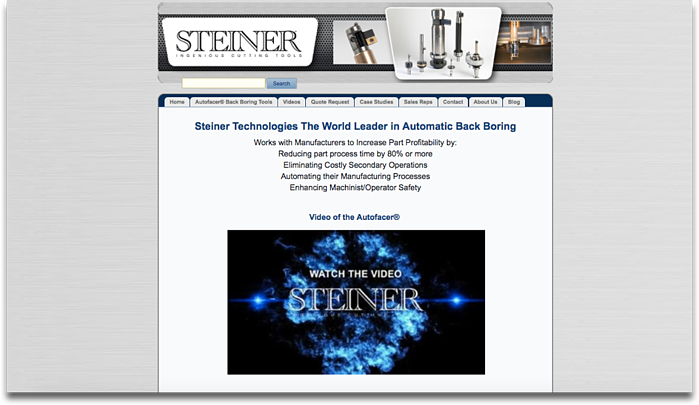 Steiner Technologies Website Redesign – Old Home Page