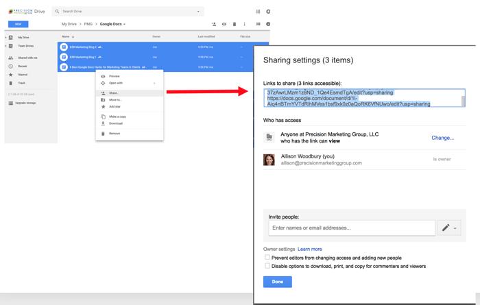 Google Doc Hacks: Sharing