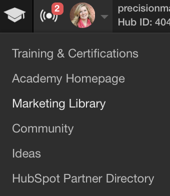 HubSpot Resources: Marketing Library