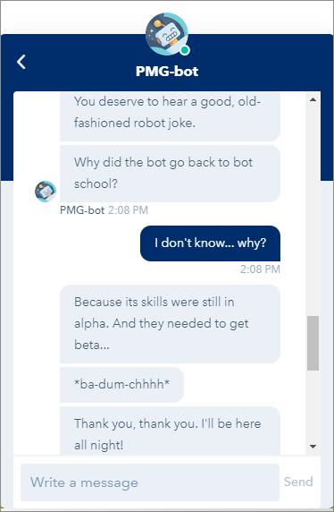 PMG-bot Joke