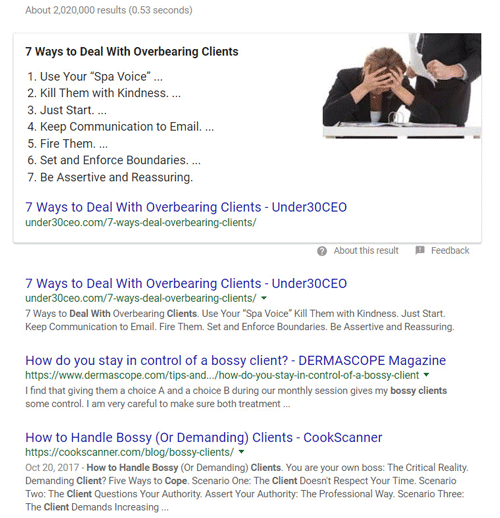 Search Results – How to Manage Customers