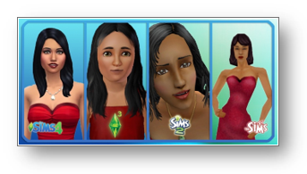 Various Versions of The Sims