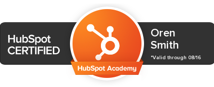 Oren Smith: HubSpot Certified