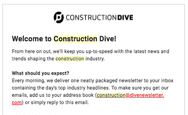 construction email marketing template