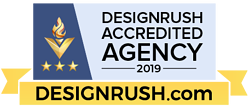 DesignRush Accredited Agency 2019 Badge