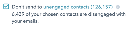 Don't Send to Unengaged Contacts in HubSpot Email