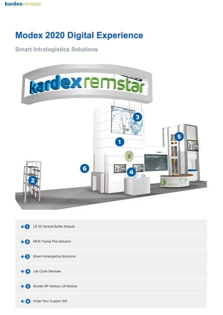 Kardex Digital Tradeshow Booth on Desktop
