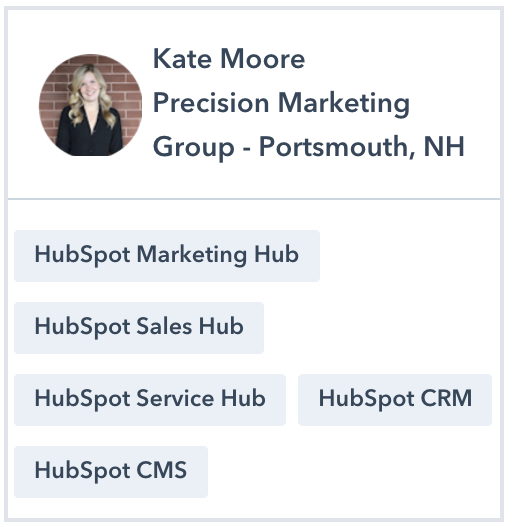 Kate Moore HubSpot Certified Trainer Profile