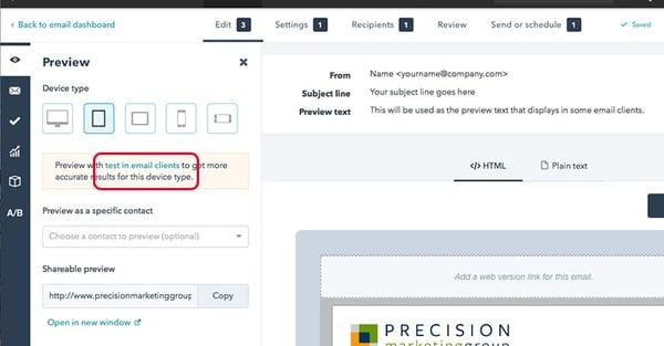 HubSpot Email Display Testing Tool