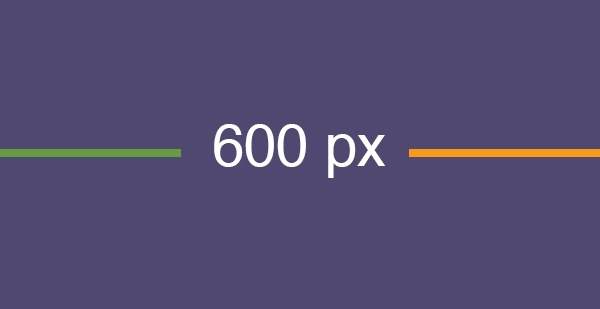 An Email Width of 600 Pixels