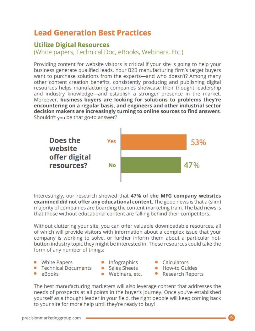 2020 Manufacturing Digital Marketing Report on Lead Generation