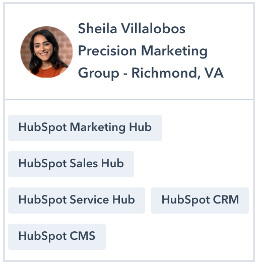 Sheila Villalobos HubSpot Certified Trainer Profile