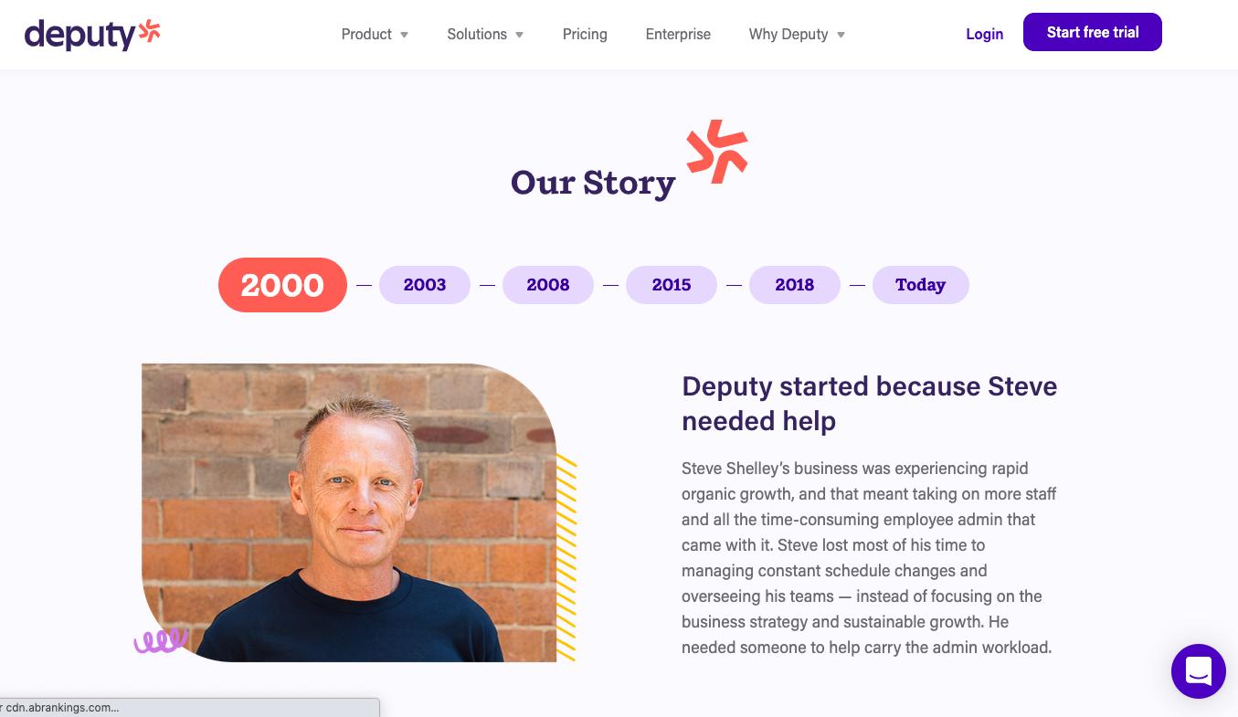 Storytelling Marketing Example Deputy