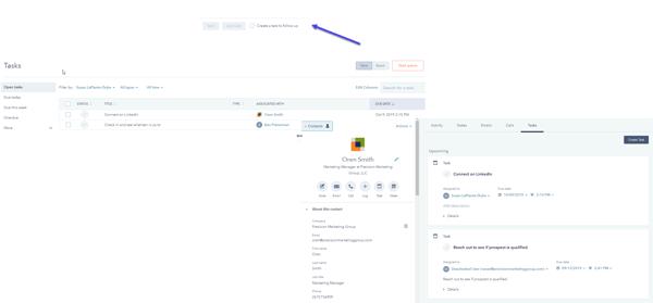 HubSpot Tasks Example