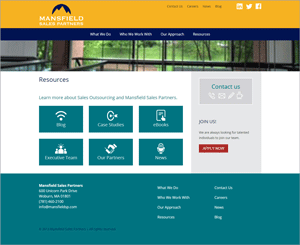 Mansfield Sales Partners Website Redesign: Resources