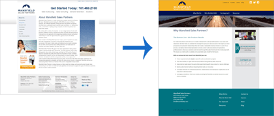 Mansfield Sales Partners Website Redesign: About Us