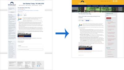 Mansfield Sales Partners Website Redesign: Blog Post
