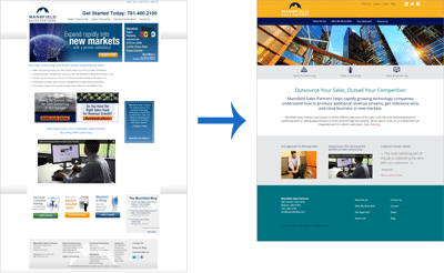 Mansfield Sales Partners Website Redesign: Home Page