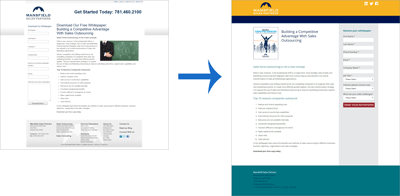 Mansfield Sales Partner Website Redesign: Landing Page